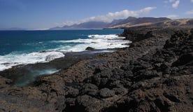 Rocky coast of Fuerteventura Stock Photos