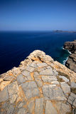 The rocky coast of Greece Stock Photo
