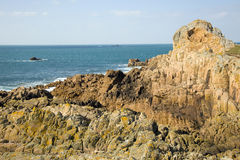 Rocky Coast. Guernsey Stock Photos