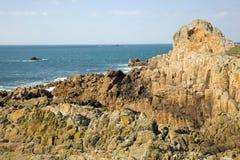Rocky Coast. Guernsey Stock Photos