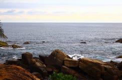 Rocky coast in the Indian ocean Stock Photos