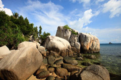 Rocky coast in Indonesia Stock Photos