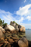 Rocky coast in Indonesia Stock Photo