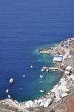 The rocky coast of the island in the Aegean sea. Stock Photos