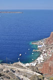 The rocky coast of the island in the Aegean sea. Stock Images