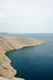 Rocky coast of the island pag in croatia Royalty Free Stock Photography