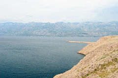 Rocky coast of the island Pag in the summer Royalty Free Stock Photos