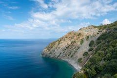 Rocky coast of isle elba Royalty Free Stock Photography