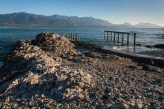 Rocky coast at Kaikoura peninsula, New Zealand Stock Images