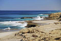 Rocky Coast in Kalbarri Stock Image
