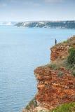 Rocky coast of Kaliakra headland, Bulgaria Stock Photos