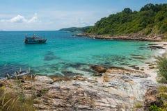 Rocky coast of Ko Samet island Stock Photography