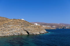 Rocky coast in Kythnos island, Cyclades, Greece Stock Photo