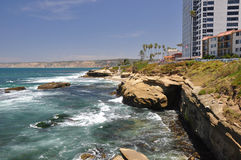 Rocky coast of La Jolla Royalty Free Stock Photo