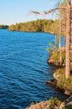 Rocky coast of lake Royalty Free Stock Image