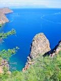 Rocky coast of lake Baikal Stock Photography