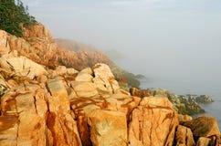 Rocky coast landscape Royalty Free Stock Images