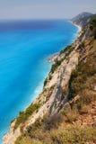 Rocky coast of Lefkada, Greece Royalty Free Stock Photo