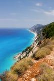 Rocky coast of Lefkada, Greece Royalty Free Stock Photography