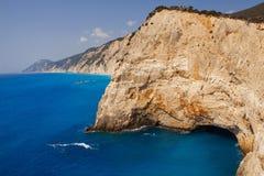 Rocky coast of Lefkada, Greece Stock Image