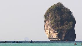 Rocky coast line at thai islands. phi Phi island in Thailand. stock video footage