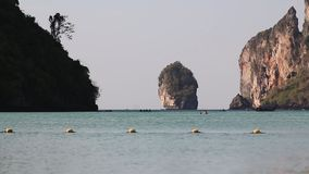 Rocky coast line at thai islands. phi Phi island in Thailand. stock footage