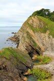 Rocky coast lulworth with sediment Stock Image