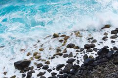 Rocky coast of Madeira island, Portugal Royalty Free Stock Image