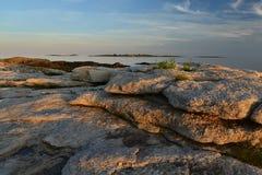 Rocky Coast Maine Fotografía de archivo libre de regalías