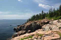 Rocky coast of Maine Royalty Free Stock Photography