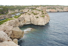 Rocky coast of Mallorca Royalty Free Stock Photo