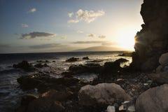 Rocky coast in Maui. Stock Photo