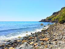 Rocky coast of Mediterranean sea Royalty Free Stock Images