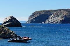 Rocky coast of Mediterranean sea in Catalonia Royalty Free Stock Image