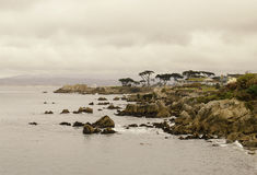 Rocky Coast of Monterey California Royalty Free Stock Photos
