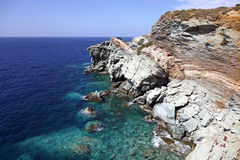 Rocky coast. Near Agia Pelagia Town, Crete Island, Greek Islands, Greece Stock Photography