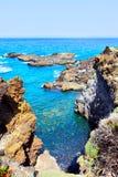 Rocky coast. Near Los Cancajos, La Palma, Canarias royalty free stock images