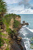 Rocky coast near Timang beach on Java Stock Images