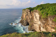 Rocky coast  near Uluwatu temple on Bali Royalty Free Stock Images