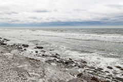 Rocky coast of a Nordic sea Royalty Free Stock Images