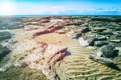 Rocky coast of North Sea, France Royalty Free Stock Photo