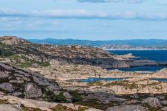 Rocky coast at Norway Stock Photo