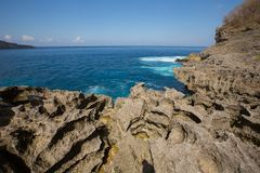 Rocky coast, Nusa Penida, Indonesia Stock Photo