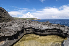 Rocky coast, Nusa Penida, Indonesia Stock Image