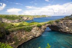 Rocky coast, Nusa Penida, Indonesia Royalty Free Stock Photography