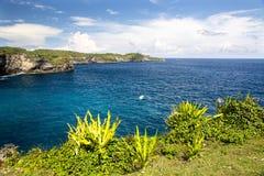 Rocky coast, Nusa Penida, Indonesia Royalty Free Stock Images