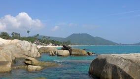 Rocky coast of the ocean, Koh Samui. Rocky coast of the ocean, Koh Samui, Thailand. Beautiful FullHD stock footage stock video