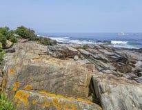 Rocky Coast och Atlantic Ocean, udde Elizabeth, Maine royaltyfria foton