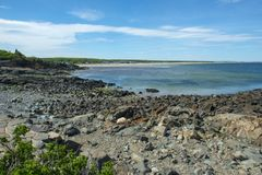 Rocky Coast in Ogunquit, ME, USA Royalty Free Stock Photography