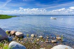 Rocky coast on Oland island. Rocky Oland island coast in summer season Stock Photos